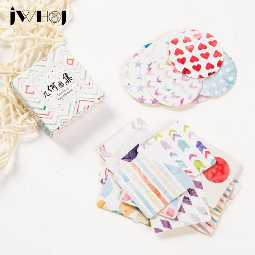 40 pcs box JWHCJ geometry paper sticker decoration DIY scrapbooking Gift bag sealing sticker