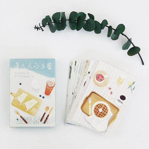 €240000 Besparen 28 pcs set Fantini Breakfast food student mini Zakka card greeting card lomo
