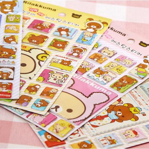Betaalbaar 34% Korting Kawaii Rilakkuma Cartoon Adhesive Stickers DIY Decoration Stickers