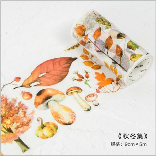 90mm wide Autumn Winter Season Plants Leaves Decorative Washi Tape DIY Planner Diary Scrapbooking