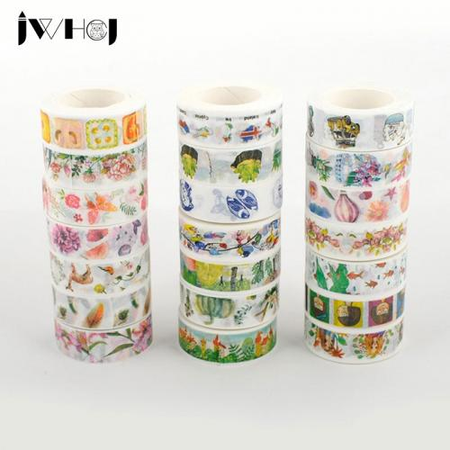 1 x (21style optional) 1.5cmX10m Kawaii washi tape children like DIY Diary decoration masking tape