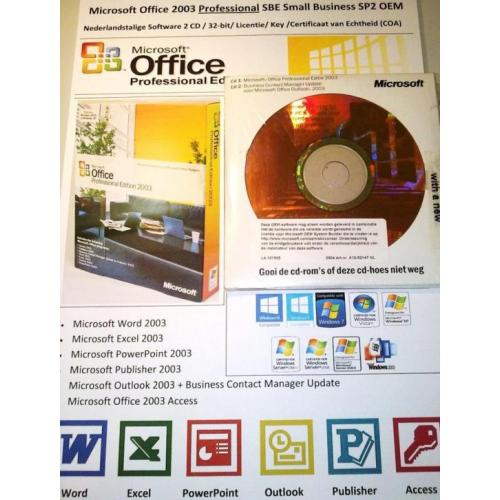 Microsoft Office 2003 Professional Small Business SP2 NL OEM