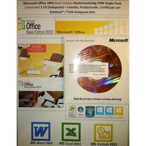 Microsoft Office Basic Edition 2003 NL OEM 2005 Universeel