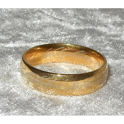 Nieuwe goud kleurige ring van lord of the rings