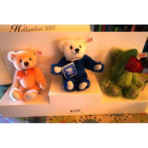 steiff teddy bear set holland 2002