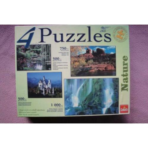 GOLIATH NATURE HIGH QUALITY PUZZLES 4x voor 3.50euro