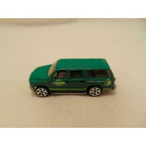 Chevrolet Suburban 2000 Eco growers 1:76 Matchbox donkergroe