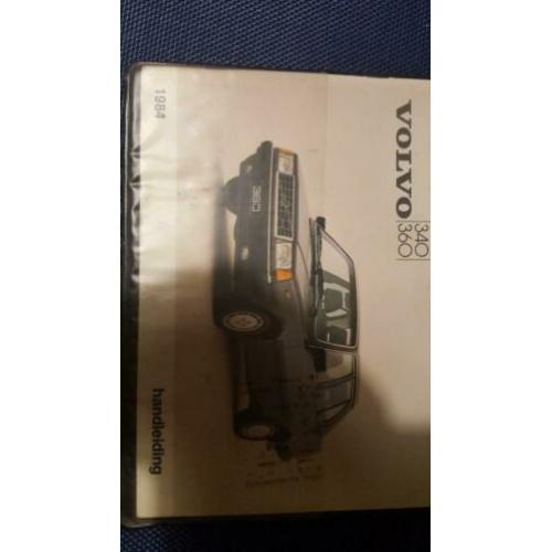 Volvo 340 360 instructieboek 1984