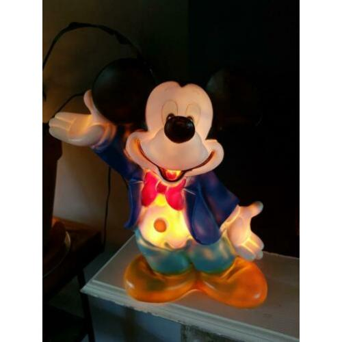 Vintage retro MICKEY MOUSE lamp kinderlamp werkt ! disney