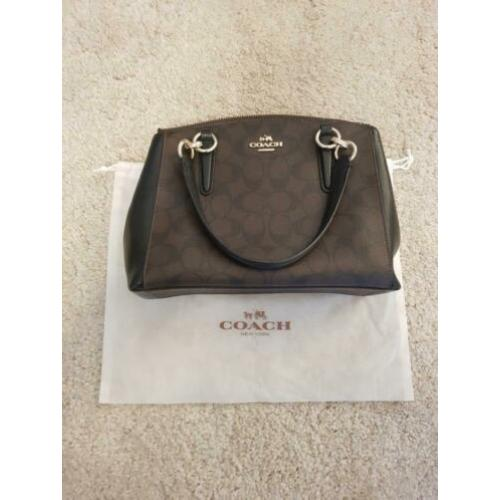 Coach Mini Christie Carryall Signature Black/Brown