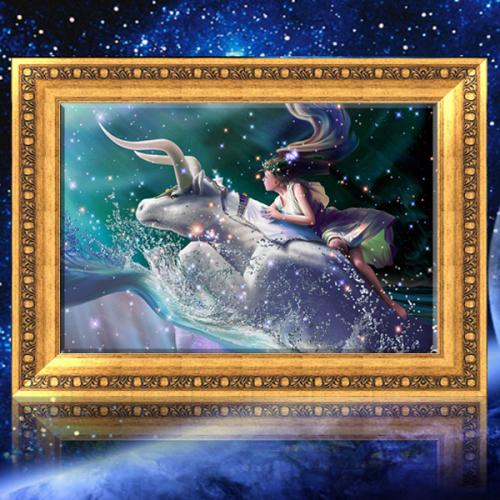 30x40cm 5D DIY Taurus Diamond Painting Resin Full Rhinestone Twelve Constellations Cross stitch Kit