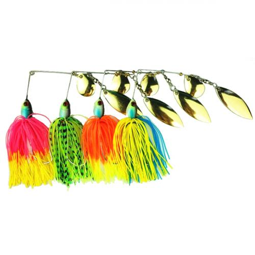 Fishing Lure Spinner Bait Rotary Composite Sequins Buzzbait Bass Lures