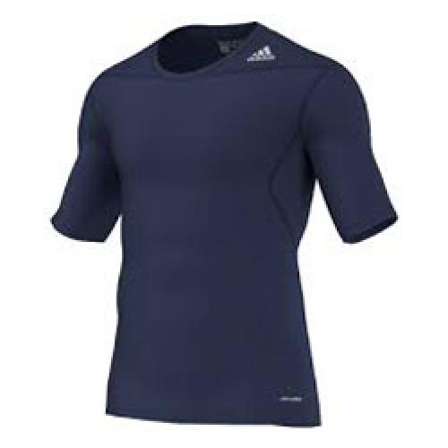 Tenniskleding heren Adidas adidas Techfit Base SS thermoshirt heren marine
